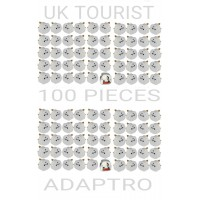 100 PCS ORIGINAL UK TOURIST ADAPTORS