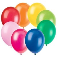 12 PCS MIX MULTI COLOUR ASSORTED BALLOONS 12""