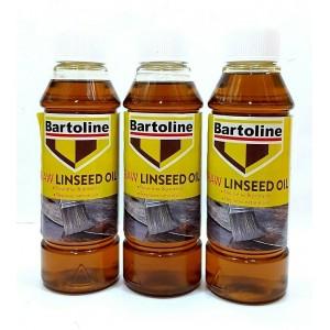3 PCS BARTOLINE 250ML RAW LINSEED OIL ALL WOOD