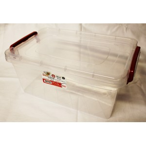 PLASTIC STORAGE BOX WITH LID USEFUL FOR OFFICE, HOME OR SCHOOL
