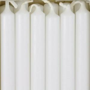 12 PCS WHITE TABLE NIGHT LIGHT CANDLES 7 HR BURN