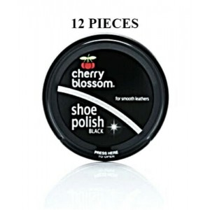 12 PCS CHERRY BLOSSOM 50ML BLACK SHOE POLISH