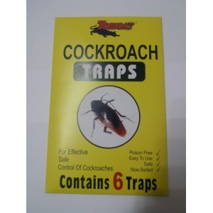 COCKROACH TRAPS 6 PK POISON FREE EASY USE SAFE CONTROL OF COCKROACHES