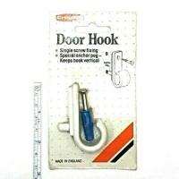 1 PLASTIC DOOR HOOK WITH SCREW & WALL ANCHOR