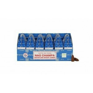 144 PCS (24 X 6 BOXES) SATYA NAG CHAMPA DHOOP CONES INCENSE