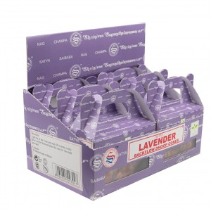 144 PCS (24 X 6 BOXES) SATYA LAVENDER DHOOP CONES INCENSE
