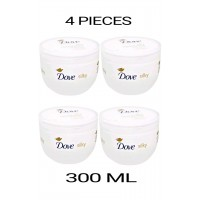 4 PIECES DOVE SILKY NOURISHMENT BODY CREAM 300 ML NEW