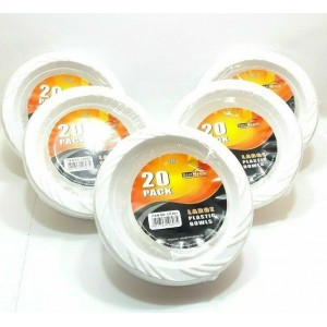 36 PACKS OF 20 LARGE 12 OZ PLASTIC BOWLS DISPOSABLE