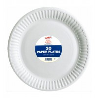 "30 PACK ROYAL MARKETS PAPER PLATES 9"" CATERING"