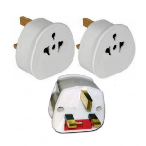 3 PCS UK TOURIST ADAPTER EUROSONIC BS5733/ES988