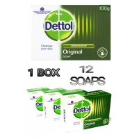 12 PCS ORIGINAL DETTOL ANTIBACTERIAL SOAP BAR