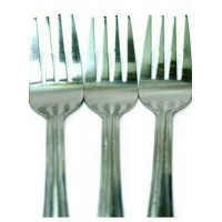 3 PCS STAINLESS STEEL LARGE FORKS 17CM CUTLERY