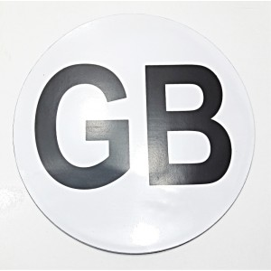 GB SIGN FULLY MAGNETIC FLEXIBLE STICKER TRAVEL
