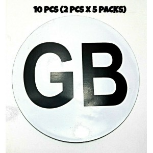 10 PCS GB SIGN FULLY MAGNETIC STICKER TRAVEL