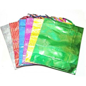 """GIFT BAGS 10"""" X 13"""" PAPER HOLOGRAPHIC SHINY PRINT"""
