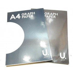 2 GRAPH PAPER BOOKS A4 SIZE 40 SHEETS EACH