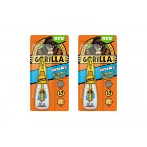 2 PCS GORILLA SUPER GLUE BRUSH & NOZZLE 10g