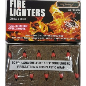 240 FIRE LIGHTERS GSD FLAME CUBES 2 HOURS BURN