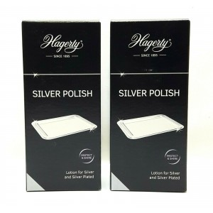2 PC HAGERTY SILVER 100ML POLISH JEWELLERY WATCH