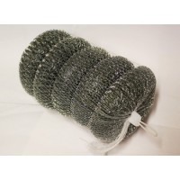 1 PACK 5 STAINLESS STEEL SCOURERS NON RUST