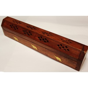 SOLID WOOD CARVED INCENSE STICK HOLDER ASH CATCHER FOR INCENSE STICK OR CONES