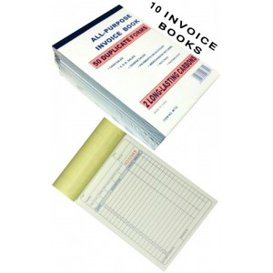10 PCS INVOICE BOOK 50 DUPLICATE FORMS BUSINESS