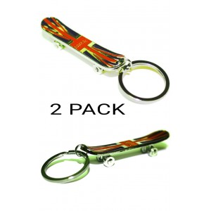 2 PCS GB SKATEBOARD FLAG KEYRINGS SOUVENIR GIFT