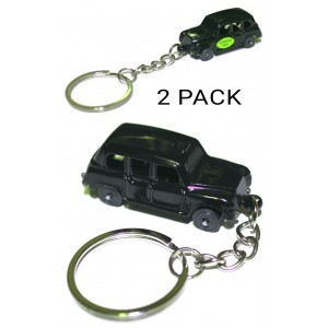2 PCS LONDON TAXI KEYRING CHAIN SOUVENIR UK GIFT