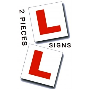 2 PCS LEARNER DRIVER CAR L SIGNS MAGNETIC PLATE