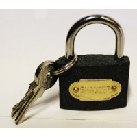 CAST IRON PADLOCK WITH 3 SPARE KEYS - IDEAL FOR HOME, OFFICE OR COMMERCIAL