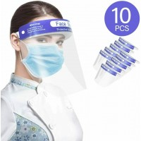 10 PCS FACE SHIELD FULL COVER ANTI-FOG VISOR PPE
