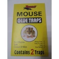 MOUSE GLUE TRAPS 2 PK POISON FREE EASY TO USE SAFE CONTROL OF MOUSE