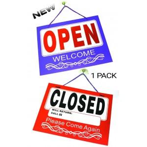 OPEN / CLOSED SIGN SHOPS BUSINESS PREMISES HANG