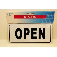 OPEN/CLOSED SIGN + HANGING CORD AND SUCTION CUP SIZE 20.5CM X 9.5CM