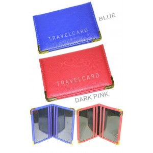 2 PCS BLUE & PINK OYSTER HOLDER TRAVEL BUS CARD