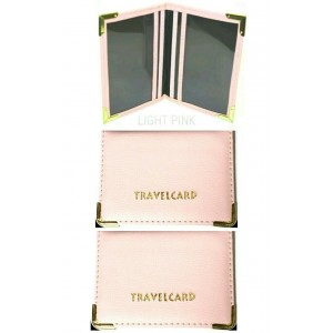 2 PCS LIGHT PINK OYSTER CASE TRAVEL CARD HOLDER