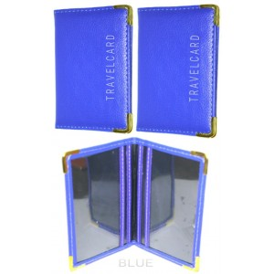 2 PCS BLUE BUS PASS COVER RAIL OYSTER CARD HOLDER