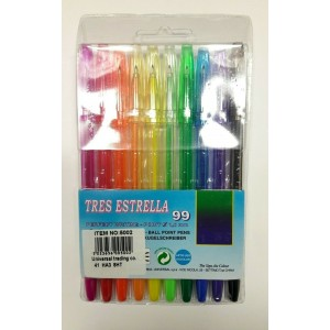 100 PCS (10 PCS X 10 PACKS) MIX COLOURED BALL PENS