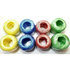 2 PCS COLOURED POLY TWINE PACKAGING ROPE 50G