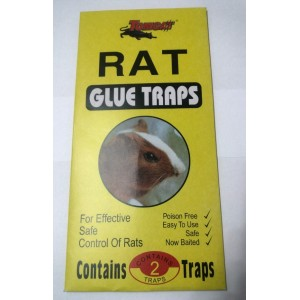RAT GLUE TRAPS 2 PK POISON FREE EASY TO USE SAFE CONTROL OF RATS