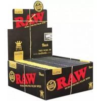 1600 PCS (50 PK X 32 PCS) RAW CLASSIC BLACK KING SIZE SLIM ROLLING PAPERS