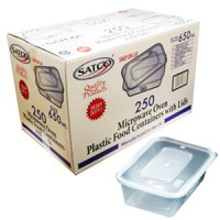 SATCO MICROWAVE PLASTIC CONTAINERS 650ML + LIDS
