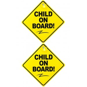 2 PCS CHILD ON BOARD CAR SIGNS VEHICLE BABY SAFETY