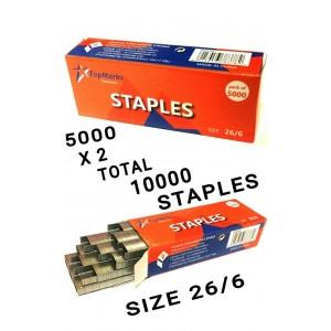 10000 STAPLES PIN SIZE 26/6 STANDARD OFFICE STAPLER
