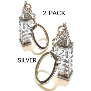 2 PCS BIG BEN TOWER UK LONDON KEYRING SOUVENIR