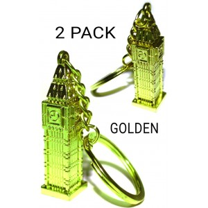 2 PCS BIG BEN TOWER GB KEYRING LONDON SOUVENIR