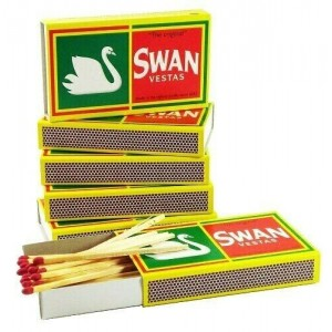 4080 MATCH STICKS (85 X 48 BOXES) SWAN VESTA MATCHES