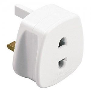 1A 3 TO 2 PIN SOCKET ADAPTOR FOR SHAVER TOOTHBRUSH EUROPEAN SOCKETS PLUG BATH