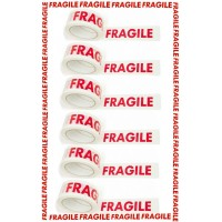 6 ROLLS FRAGILE PRINTED PACKING TAPES 66M X 48MM