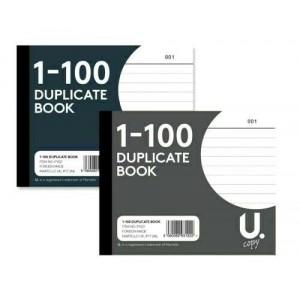 """DUPLICATE BOOKS SMALL 4"""" ORDER RECEIPT SHEET 1-100"""